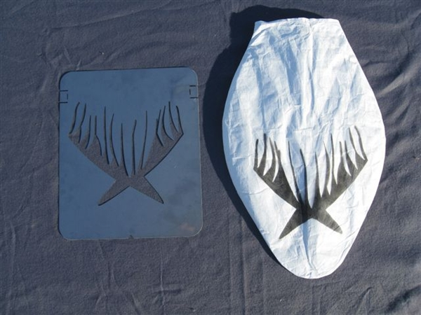 Prairiewind Decoys Snow Goose Stencil For Sillosock