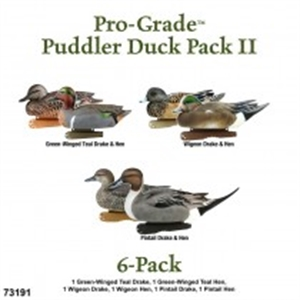 Picture of **FREE SHIPPING** Pro-Grade Puddler Pack II Duck Decoy 6 pack (AV73191) by Greenhead Gear GHG Avery Outdoors