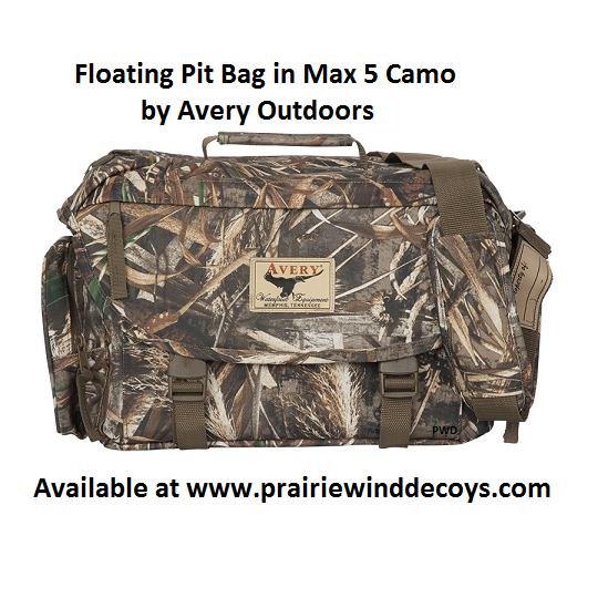 8dd9201c04f3 Prairiewind Decoys. Floating Pit Bag by Avery Outdoors Greenhead ...