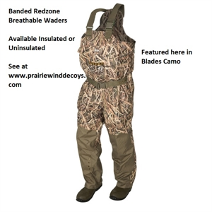 Picture of **SALE+FREE SHIPPING** Red Zone Breathable UNinsulated Waders by Banded Gear