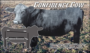 Picture of **SALE*** Confidence Cow Silhouette  Blind / Decoy by Real Geese Decoys