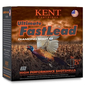 """Picture of 12ga Kent Ultimate Fast Lead Diamond Shot Hunting Loads 3"""", 1 3/4oz, 1330FPS - FREE SHIPPING- AMMO"""