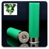 "Picture of Cheddite 16ga Hulls, Green,  2 3/4"""", 8mm Brass, Primed, Skived (100/bag)"